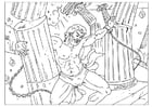 Coloring page Samson
