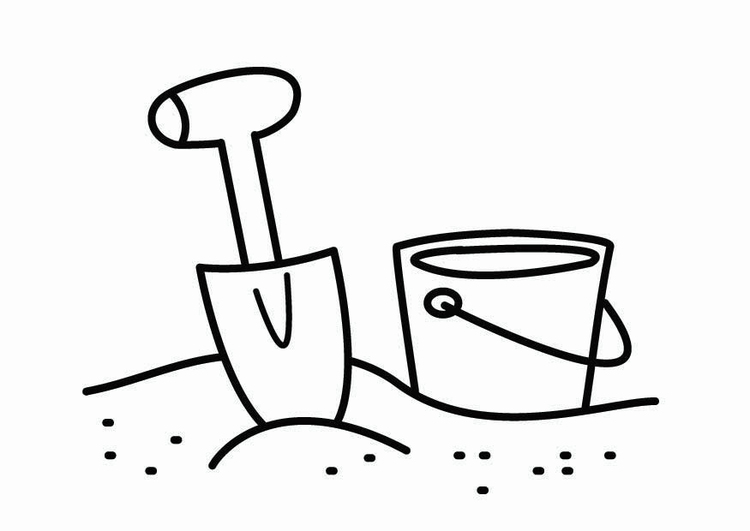 Coloring page sand box corner