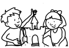 Coloring pages sand castle