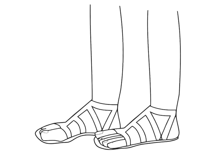 Coloring page sandals