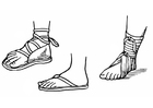 Coloring pages sandals
