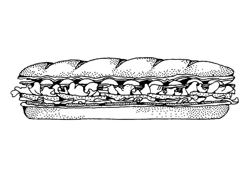 Coloring page sandwich img 17428 for Sandwich coloring page