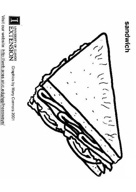 Coloring page sandwich img 5895 for Sandwich coloring page