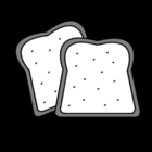 Coloring page sandwiches