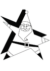 Coloring pages Santa Claus 1a