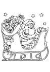 Coloring pages Santa Claus