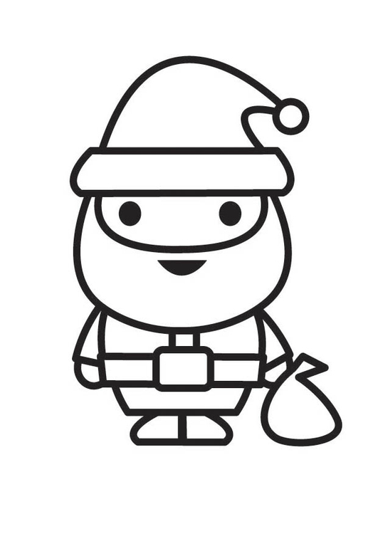 Coloring page Santa Clause