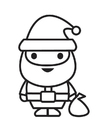 Coloring pages Santa Clause