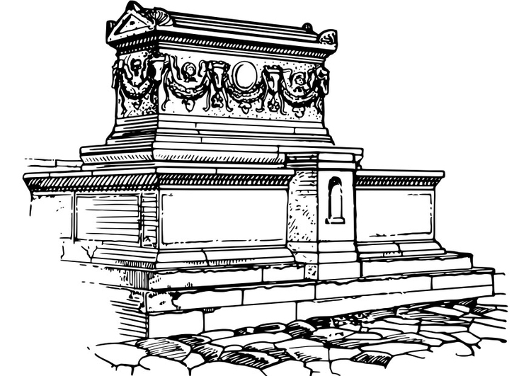 Coloring page sarcophagus