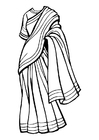Coloring pages saree