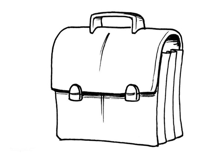 Coloring page satchel