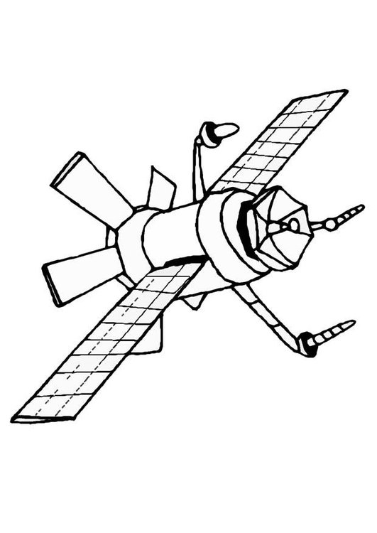 Coloring page satellite