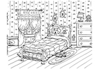 Coloring page scared of the dark, nightmare