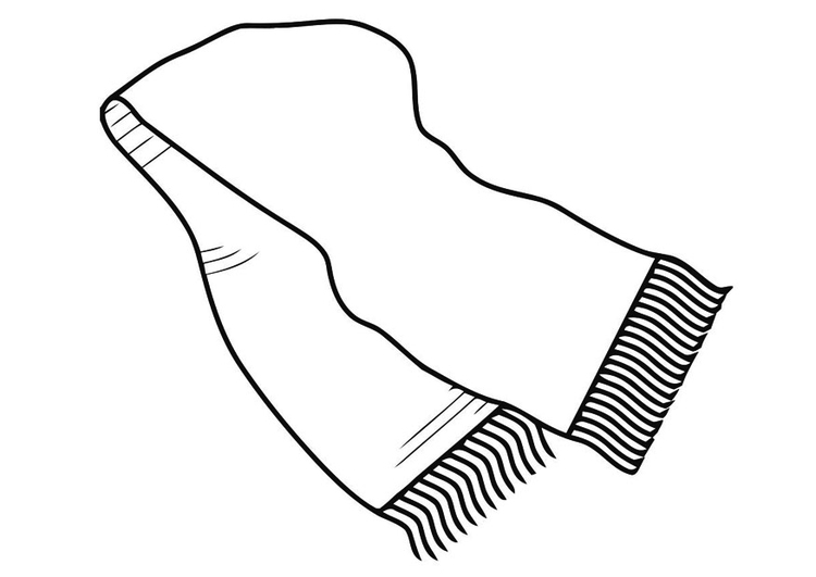 Coloring page scarf