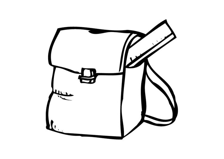 Coloring page school bag