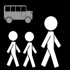 Coloring page school excursion - bus