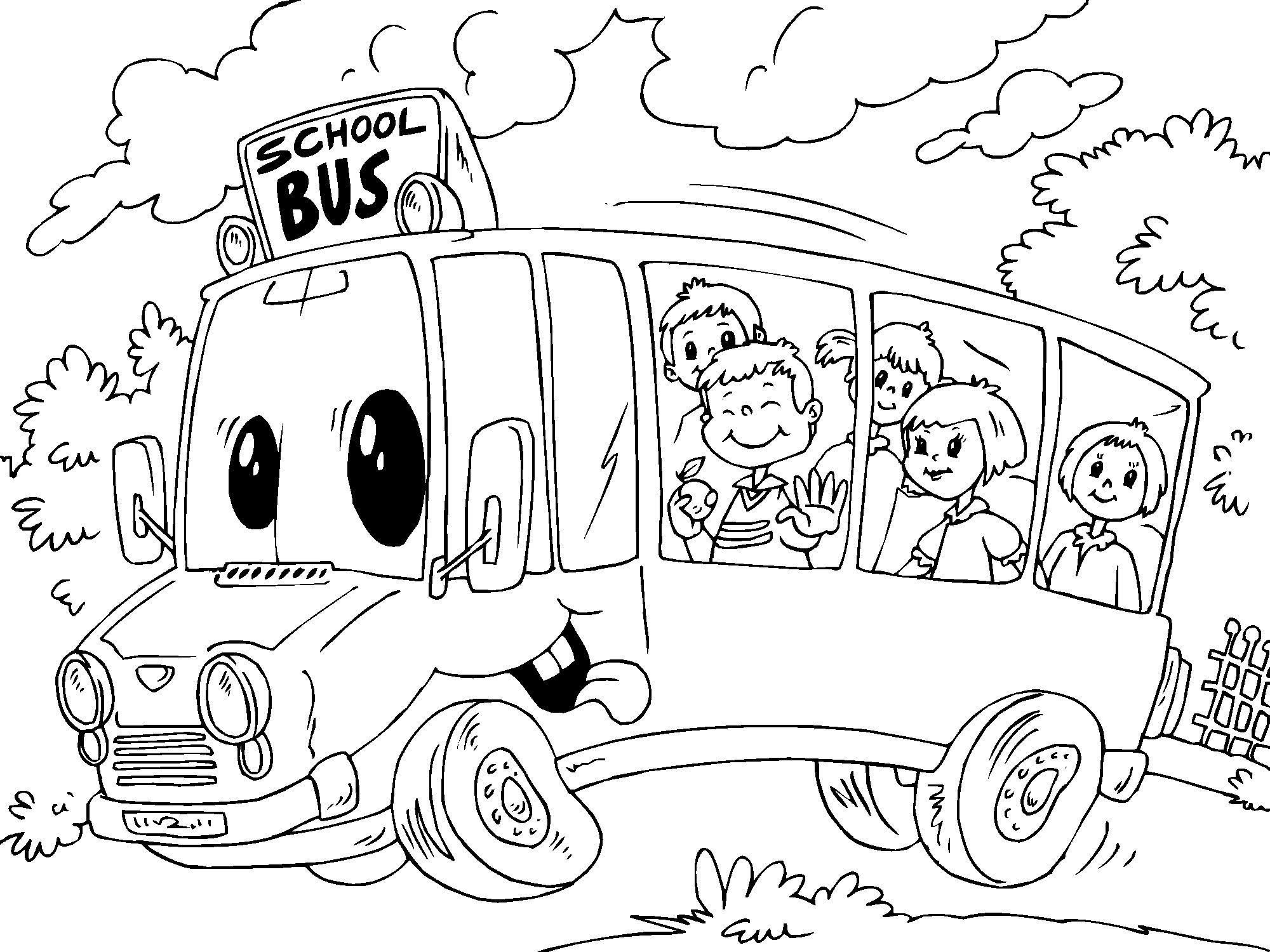 Coloring Page Schoolbus