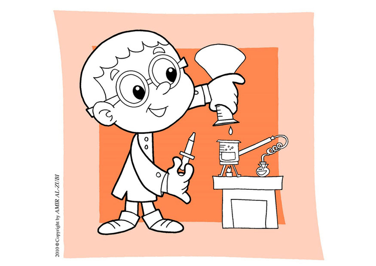 Coloring page science