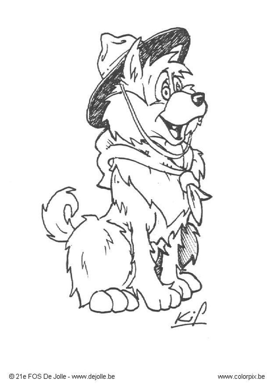 Coloring page scout cub