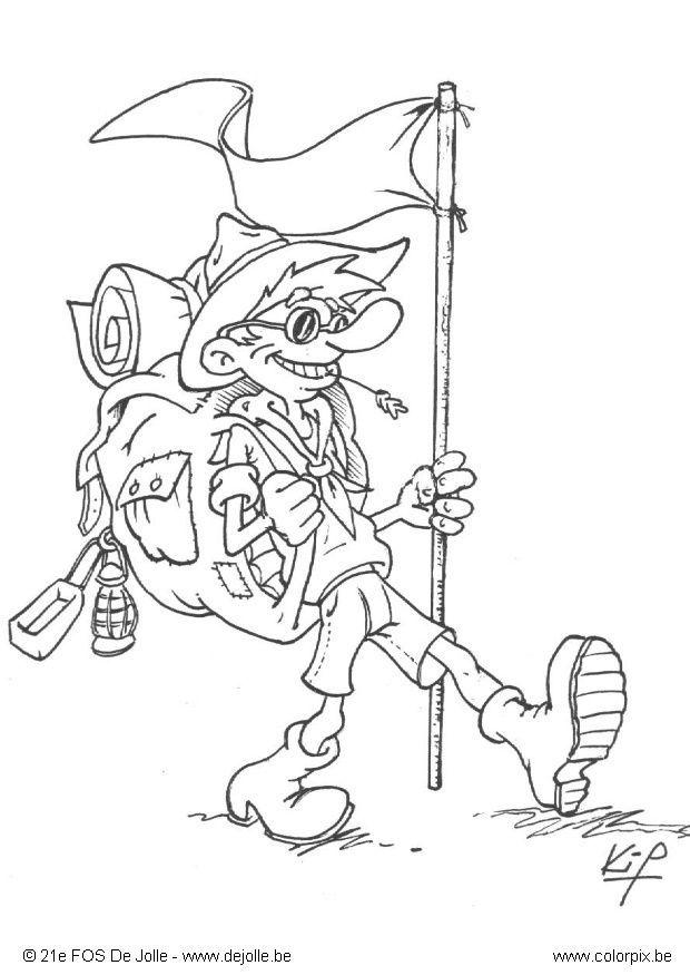 Scouting Kleurplaat Coloring Page Scout Free Printable Coloring Pages