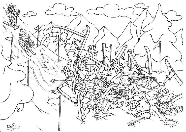 Coloring page scouts winter camping 2
