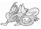 Coloring pages sea dragon