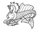Coloring page sea horse