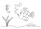 Coloring pages sea