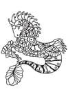 Coloring page seahorse