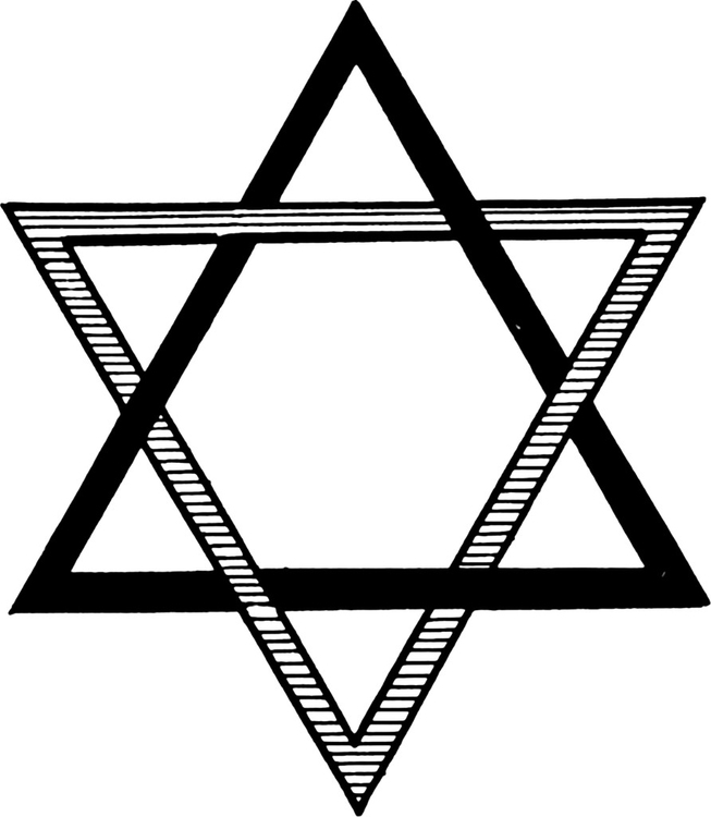 Coloring page seal of solomon - star of david