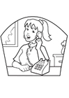 Coloring pages secretary