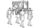 Coloring pages sedan chair