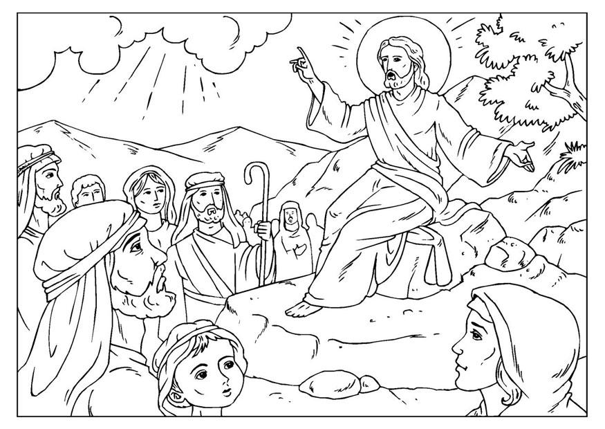 Coloring page sermon on the mount - img 25926.