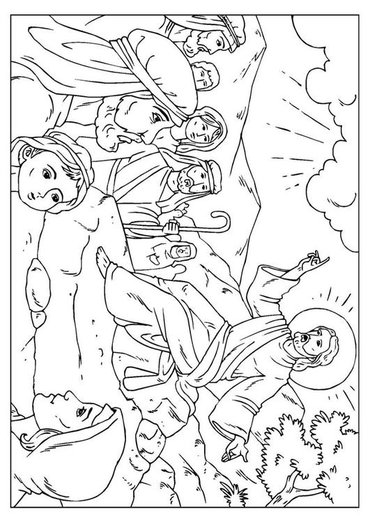 Coloring page sermon on the mount img 25926