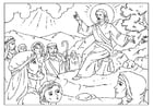 Coloring pages sermon on the mount