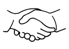 Coloring pages shake hands
