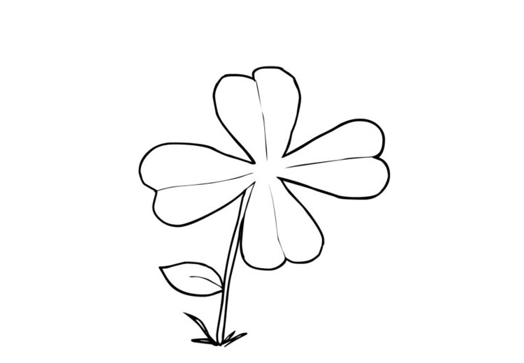 Coloring page shamrock