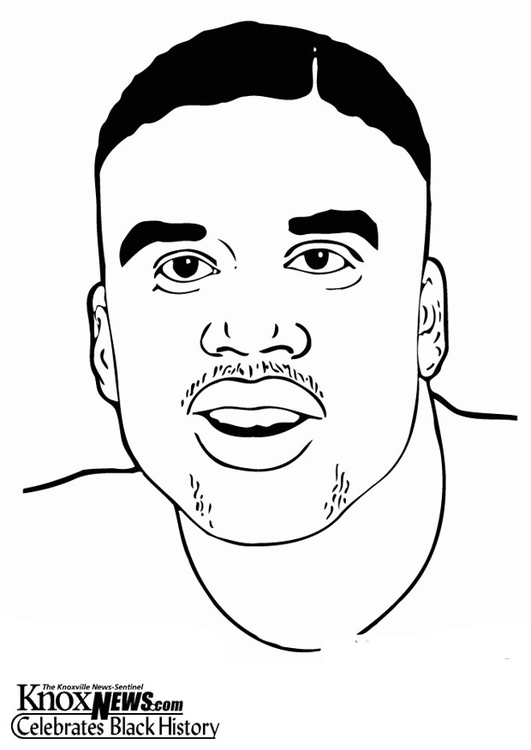 Coloring Page Shaquille O\'Neil - free printable coloring pages