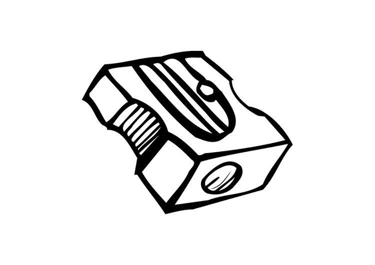 Coloring page sharpener