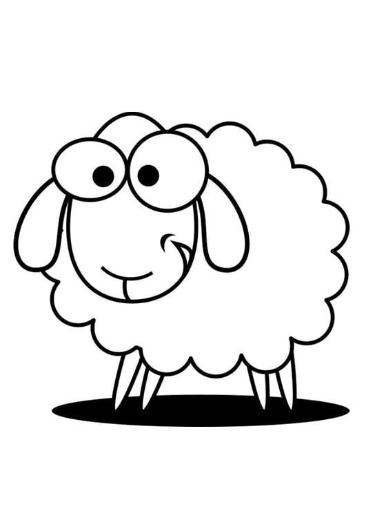 Coloring page sheep - img 27324.