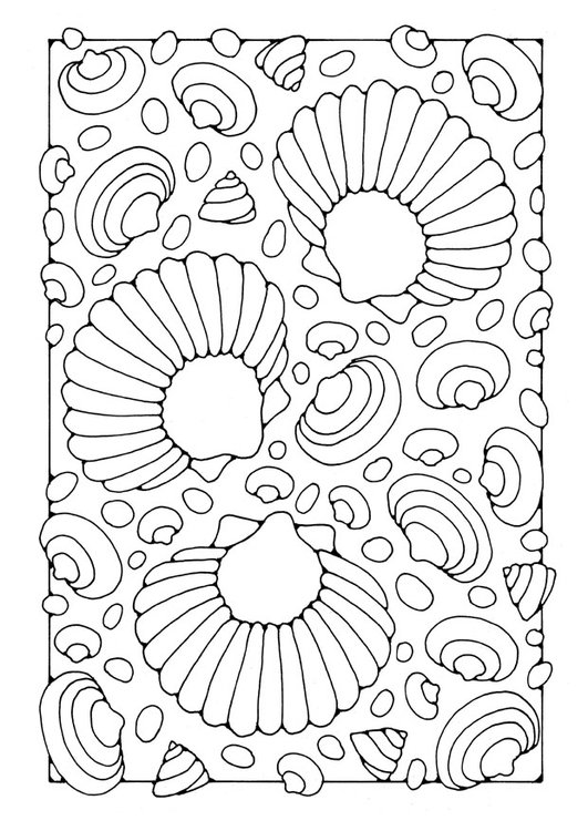 Coloring page shells