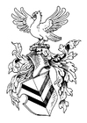 Coloring pages shield of arms