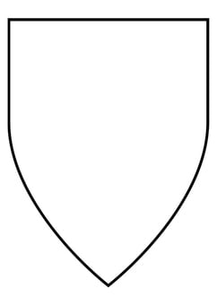 Coloring page shield