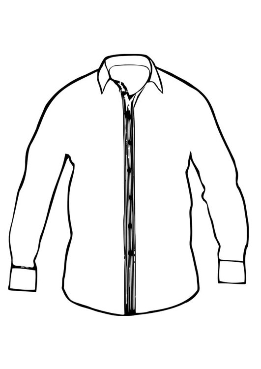 coloring pages of a shirt | Coloring page shirt - img 27410.