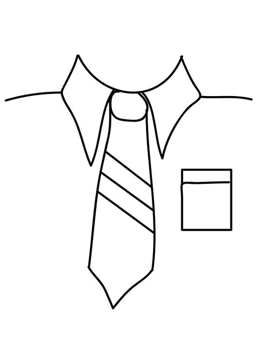 Coloring page shirt with tie img 29289 for Necktie coloring page