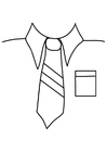 Coloring page shirt with tie