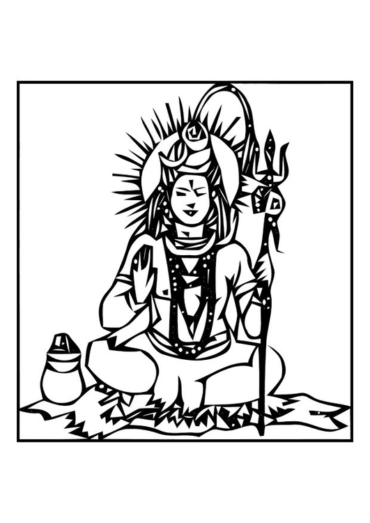 Coloring page Shiva