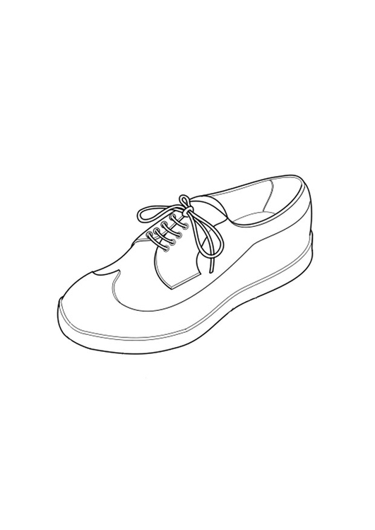 Coloring page shoe