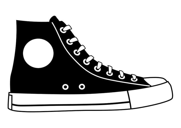 Odvratiti Mjesto Određen Converse Shoe Coloring Page -  Goldstandardsounds.com
