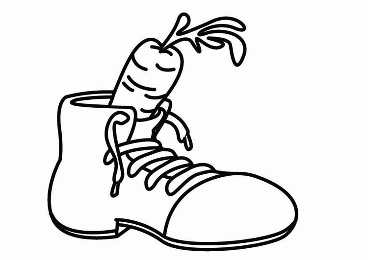 Coloring page shoe for Saint Nicholas
